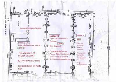 Oficinas Impecables,pb, Piso Marmol 88m2 Contrafr. Muy Lumi