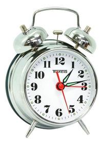 Despertador Doble Campana De Cuerda Alto Sonido Al/8023p