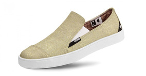 Têns Usthemp Slip-on Feminino Vegano Casual Lurex