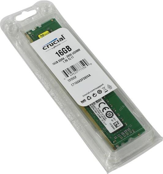 Memoria Ddr4 16gb Crucial 2400mhz (cp-19200)