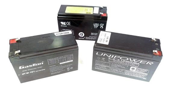 Bateria 12v X 7a Selada P/ Nobreak Alarmes C. Elétrica C/nf