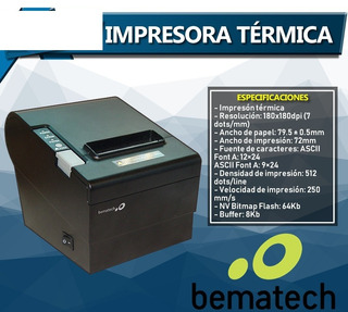 Miniprinter Termica Bematech Lr200 Usb Serial 80mm 250 Mm/s
