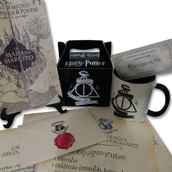 Box Harry Potter Com 7 Itens (varinha E Carta Personalizada)