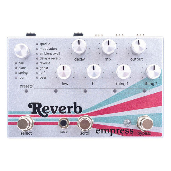 Pedal Effects Reverb Empress Guitarra Baixo Original Novo