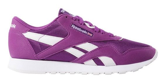 Zapatillas Reebok Classic Nylon Color Vio/bla De Mujer