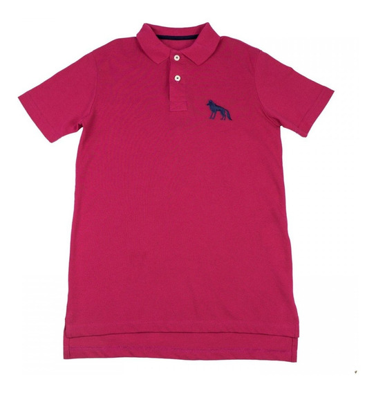 Camisa Polo Infantil Masculina Acostamento Manga Curta