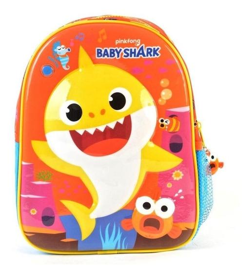 Mochila Baby Shark 11 Pulgadas Jardin Con Sonido Wabro 91370