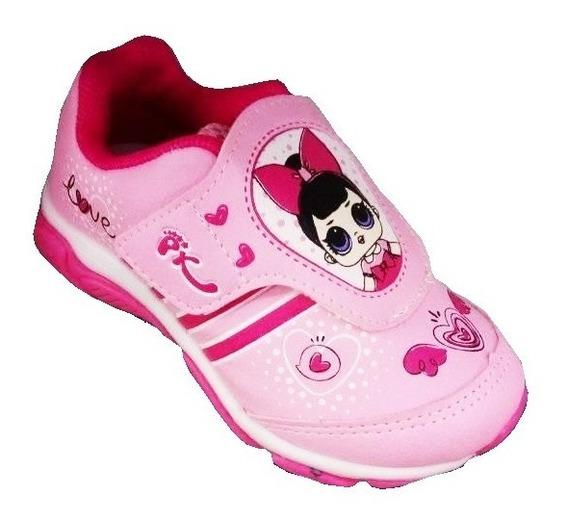 Tenis Infantil Com Led Diversos Modelos Velcro