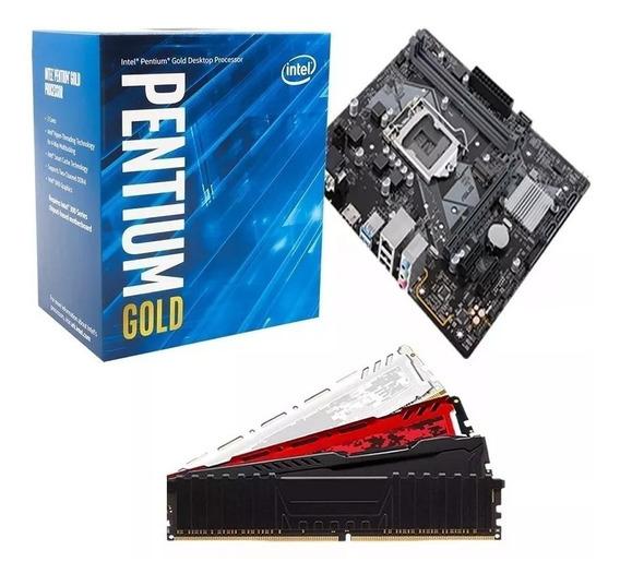 Kit Pentium 8ª Geração G5400 3.7ghz + H310m + 4gb 2400mhz
