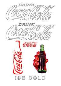Kit Adesivos Coca Cola Geladeira Antiga