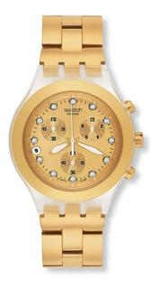 Reloj Swatch Mujer Full Blooded Dorado Svck4032g