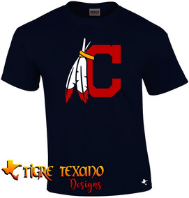 Playera Mlb Indios Cleveland Mod D By Tigre Texano Designs