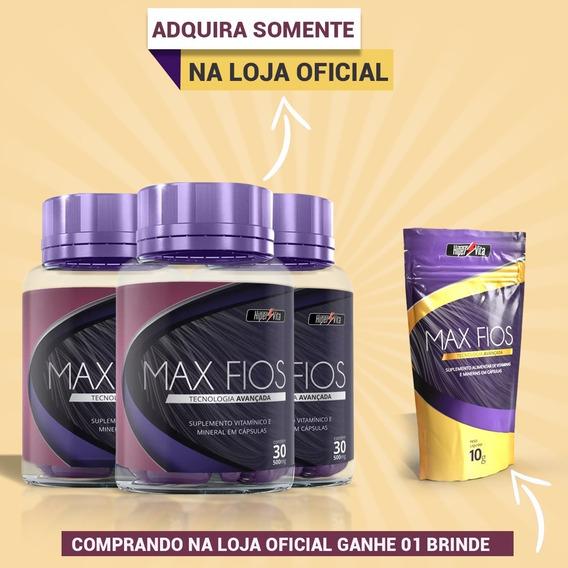 Maxfios 3 Pote Tratamento Para Queda De Fios 90 Dias