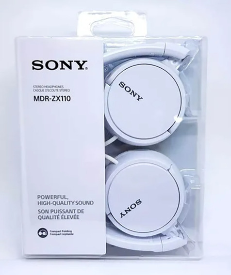 Headphone Sony Mdr-zx110 Branco (100% Original)