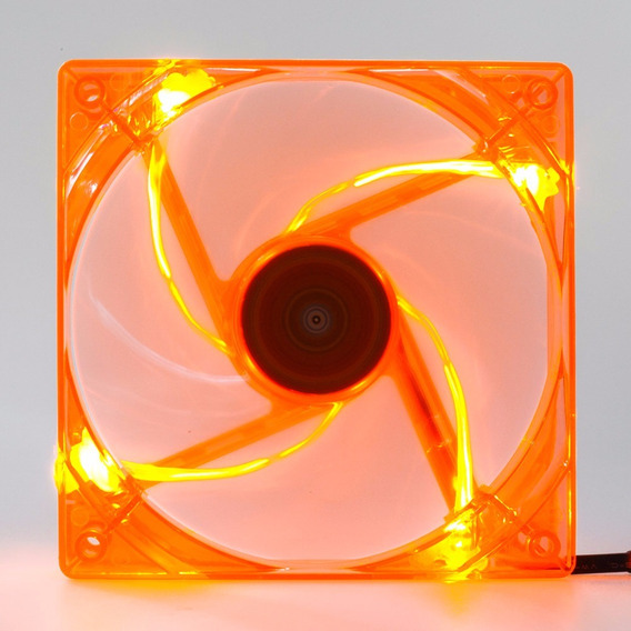 Cooler Fan Pc Gamer 120mm Led Laranja Ventoinha Dx-12l
