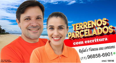 Terrenos 250m2 Na Praia De Peruibe!!!7.000.00re