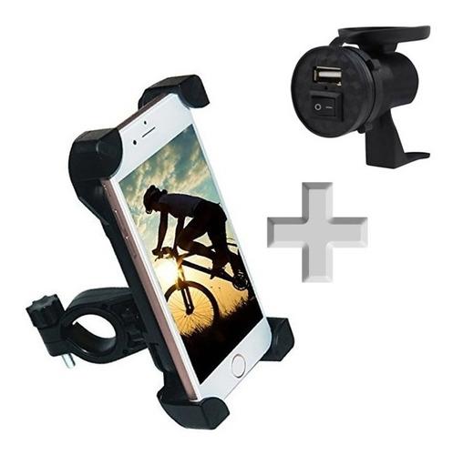 Toma Usb 12v 1.5amp Para Moto + Soporte Para Celular Moto