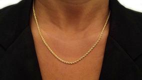 Cordão Baiano Em Ouro 18k 40 Cm 2.45 Gramas