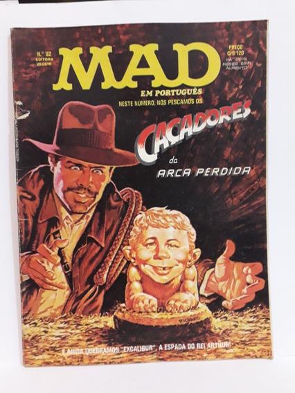 Revista Mad N° 92 - Fevereiro De 1982- Editora Vecchi, Rara