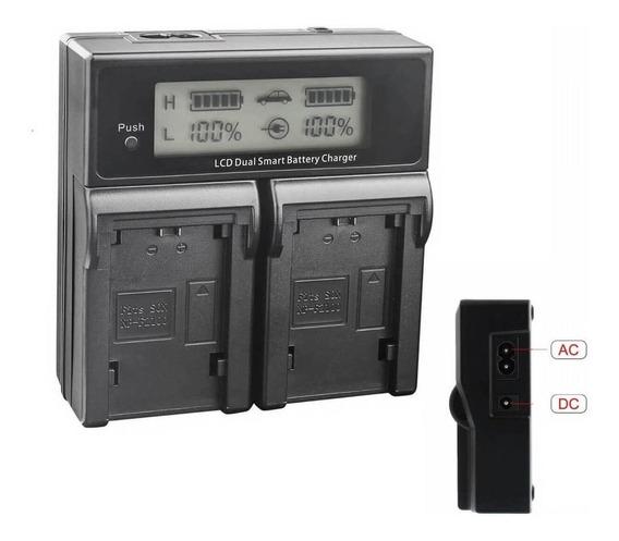 Carregador Duplo Lcd Bateria Sony Np-fw50, A6300, A6500, A7