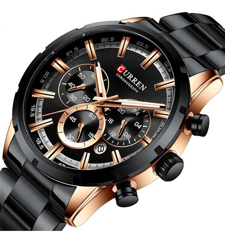 Reloj Curren 8355 Cronógrafo - Negro