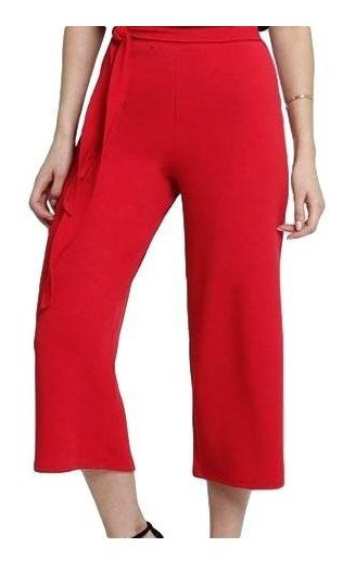 Calça Pantacourt Pantalona Listrada Ou Preta Lançamento