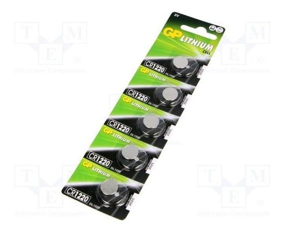 Pila Batería Litio 3v 36 Mah Cr1220 Blisters 5 Unidades Gp