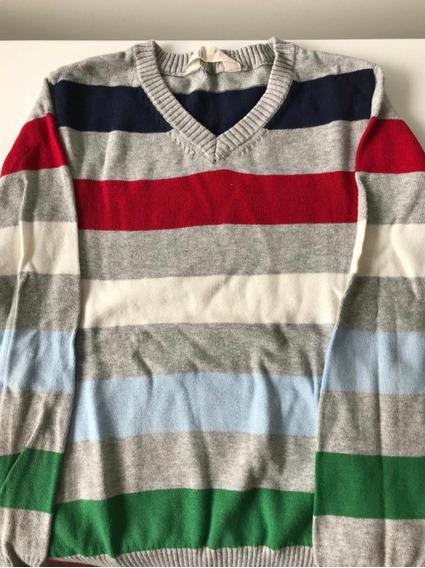 Sweaters H&m Talles 4 Y 7 Niños Color Gris