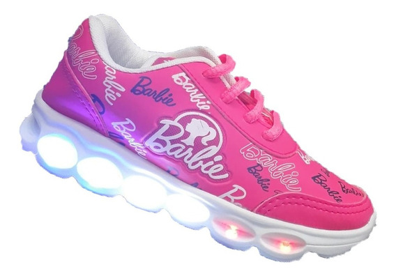 Tênis De Led Da Barbie Infantil Menina Escola Barato