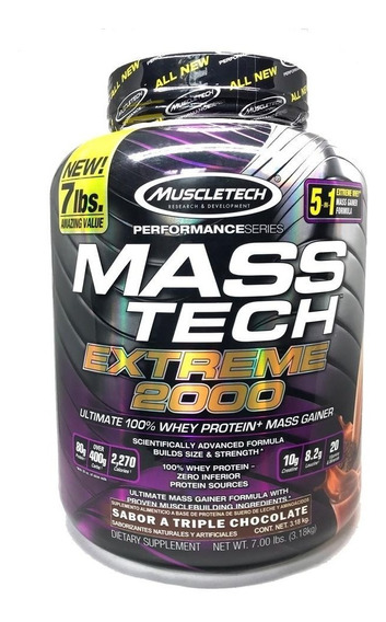 Masstech Extreme 2000 7 Lbs Sabor Chocolate Muscletech.