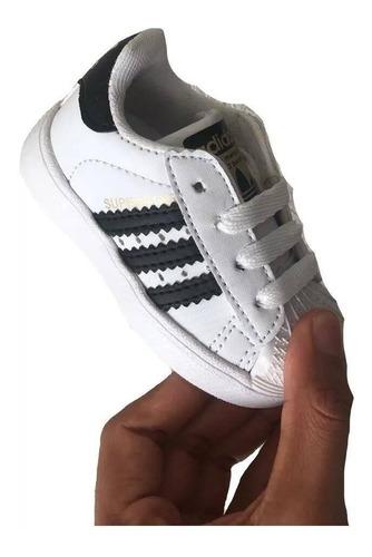 aquí A fondo Dedos de los pies  Tenis adidas Bebe Niño Niña Sujperstar 11 12 13 14 15 16 17 | Mercado Libre