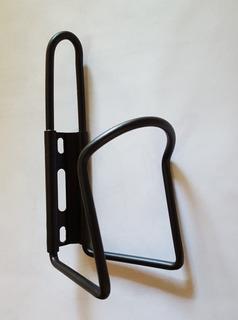 Porta Caramañola De Aluminio Negro Universal Mtb