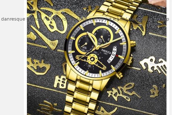 Relógio Nibosi Dourado Frete Grátis Ver Condições Ml