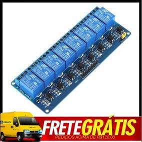 Modulo Rele 8 Canais Arduino Shield Uno R3 Mega Pic Relay