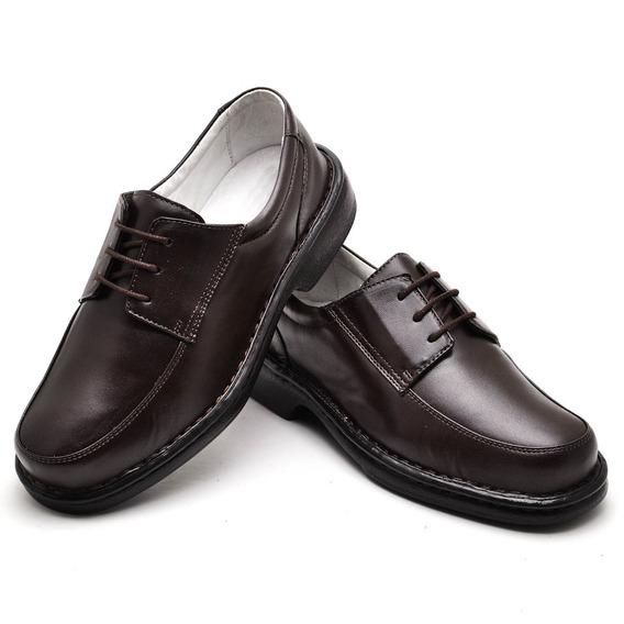 Sapato Anti-stress Social Conforto Masculino Couro Legítimo