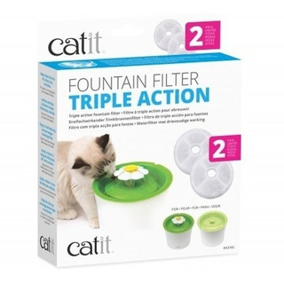 Pack 2 Filtros Fuentes Agua Catit Flor 3 L Sella/ Pharmavet