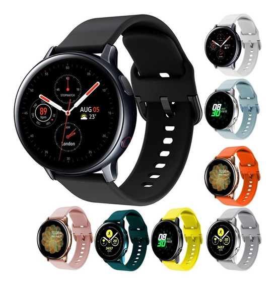 3 Correas Sport Silicon Colors Para Galaxy Watch Active 2