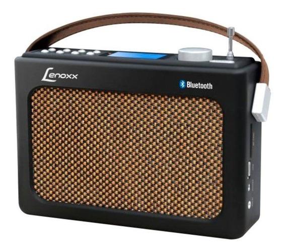 Radio Lenoxx Retrô Fm Usb Aux Sd Bluetooth Rb90 Preto Bivolt