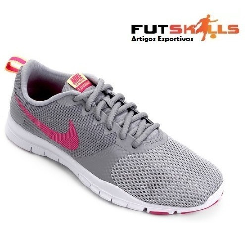 Tênis Nike Flex Essential Tr Feminino - Cinza E Rosa