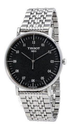 Relógio Tissot Masculino Tclassic Everytime Aço/preto Suíço