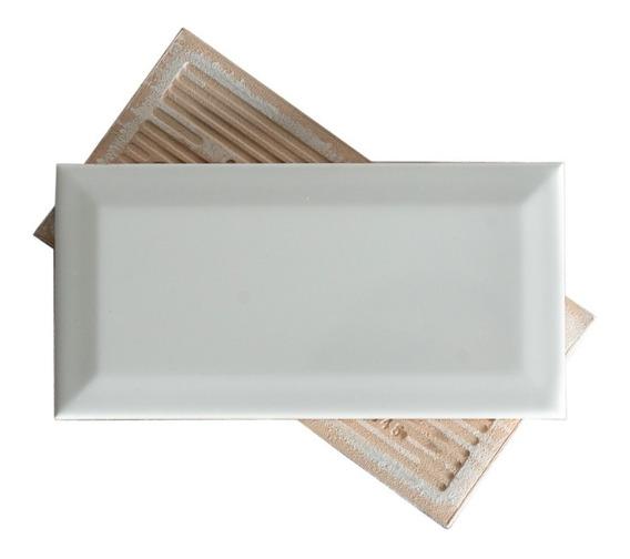 Azulejos Ceramicos Subway Blanco Biselado 7.5x15 Cocina Baño Pared