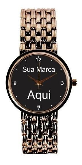 Relógio Personalizado Foto Imagem Feminino Cobre 3330