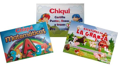 Super Combo Aprendizaje Inicial Cartillas Chiqui Para Niños
