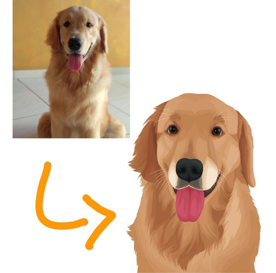 Caricatura Ilustração Digital Animal Pet Cachorro Gato