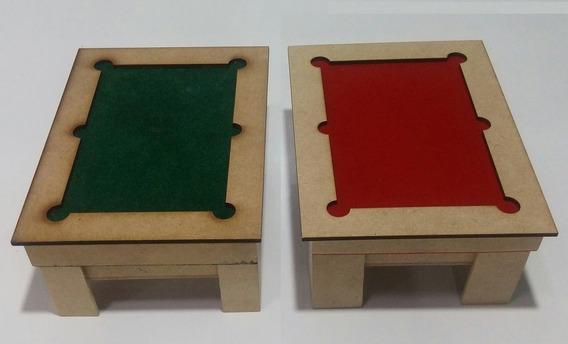 2 Caixas Estojos Cartas De Baralho Formato Mini Mesa Sinuca