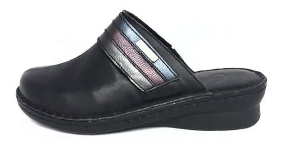 Cavatini Sueco Mujer Negro Zapatos Cómodos Pies Delicados