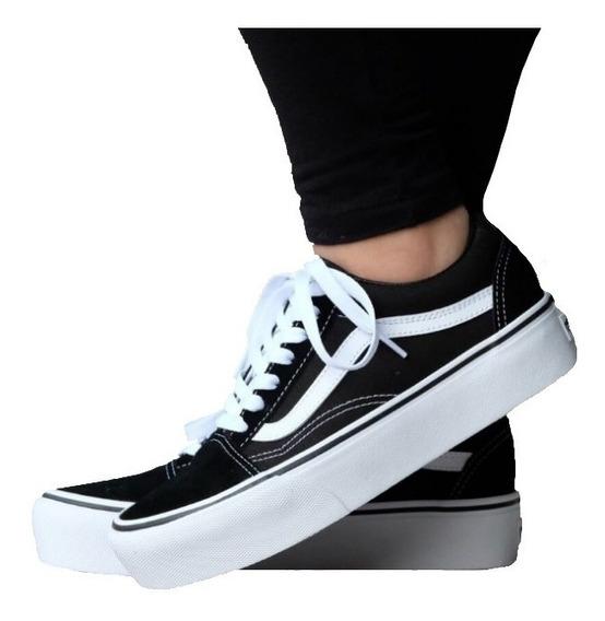 2zapatos negros mujer vans
