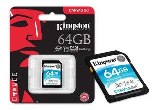 Cartão Sd 64gb Kingston Canvas Go Sdxd Classe 10 Original