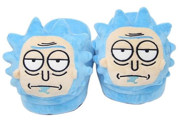 Pantufa Rick Da Serie Rick And Morty Chinelo Pelucia Present