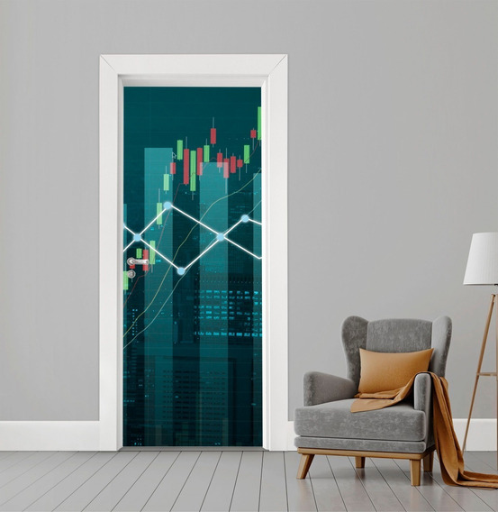 Adesivo De Porta Vidro Ou Madeira Investidor Trader Verde